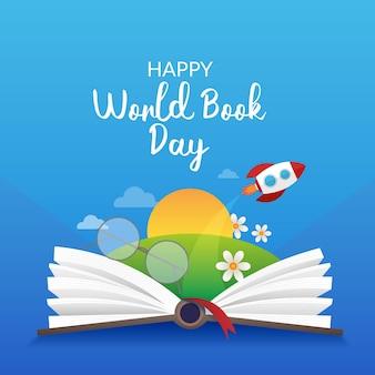Evento realista del día mundial del libro