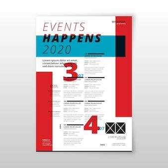 Evento sucede plantilla de póster de programación 2020