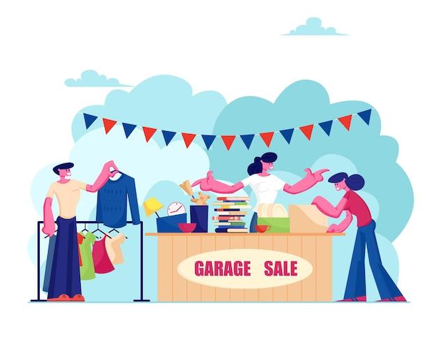 Evento de venta de garaje