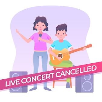Eventos musicales cancelados con banda en vivo