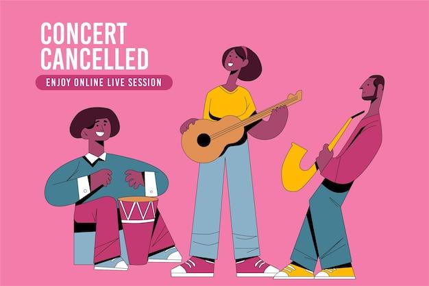 Eventos musicales cancelados con banda
