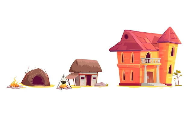 Evolución de la arquitectura de la casa.
