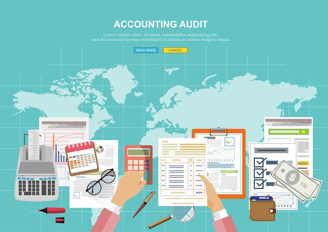 Examen del auditor del informe financiero.