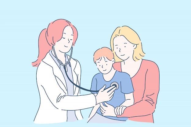 Examen médico en concepto de hospital