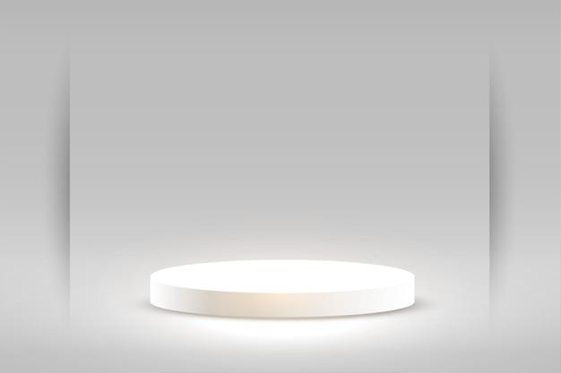 Exhibición del producto estudio vacío blanco