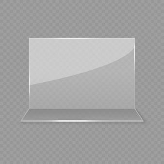 Exhibición de tarjeta de mesa de vidrio acrílico