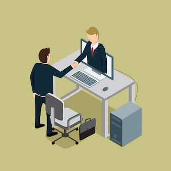 Éxito de la gente de negocios con apretón de manos