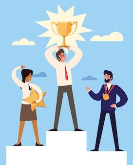 Éxito de la gente de negocios