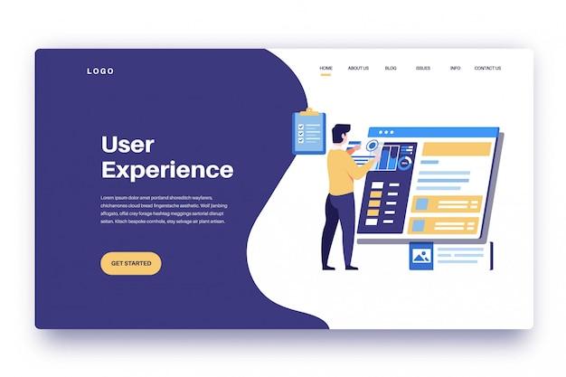 Experiencia de usuario de la página de destino