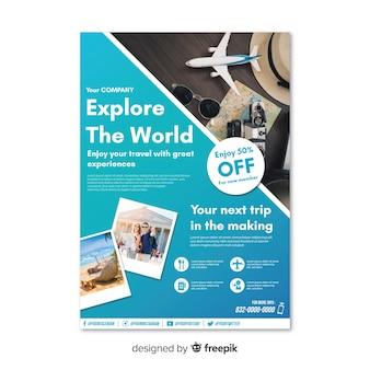 Explora el cartel de viajes del mundo