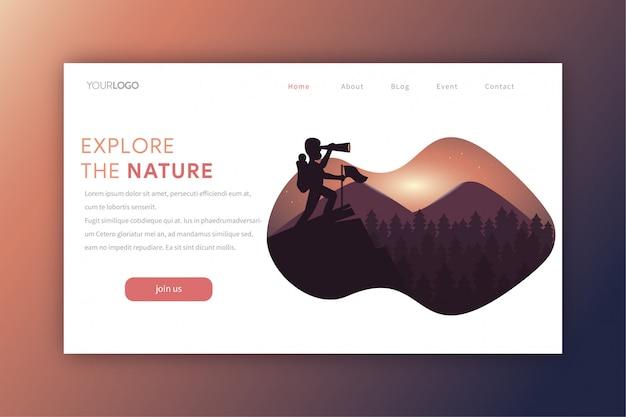 Explora la página de aterrizaje de la naturaleza