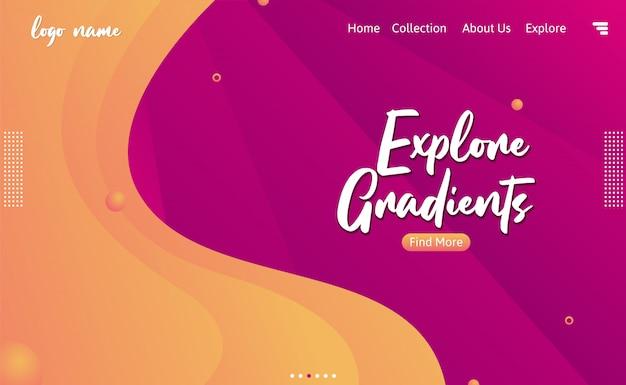 Explorar gradientes fondo abstracto