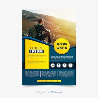 Explore el folleto de viajes mundiales con foto