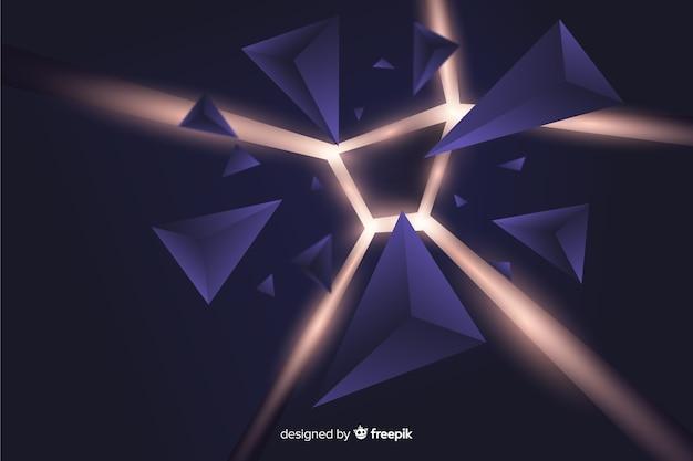 Explosión 3d con fondo de luz