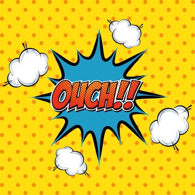 Explosión de arte pop de texto cómico de dibujos animados