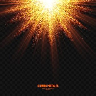 Explosión brillante abstracto vector transparente efecto