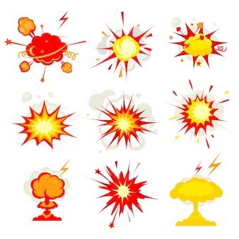 Explosión de cómic, explosión o bomba, explosión, fuego
