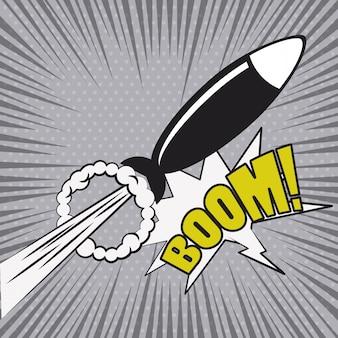 Explosión de cómic pop art cartoon