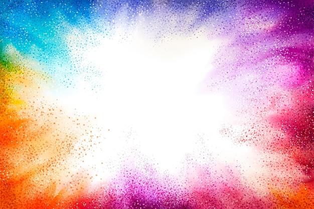 Explosión de fondo de polvo de colores para usos de diseño