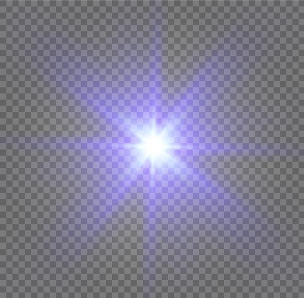 Explosión de luz blanca brillante explosión con transparente. ilustración para la decoración de efecto fresco con destellos de rayos. lucero. brillo transparente degradado brillo, llamarada brillante.
