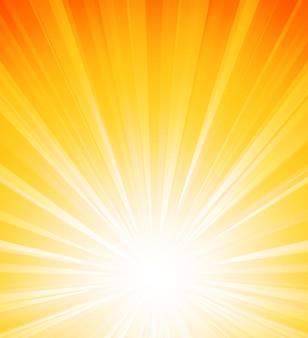 Explosión de luz naranja sol de verano