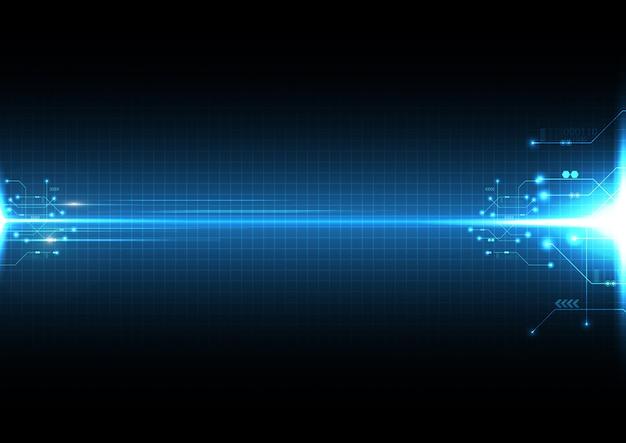 Explosión de luz tecnología de fondo abstracto