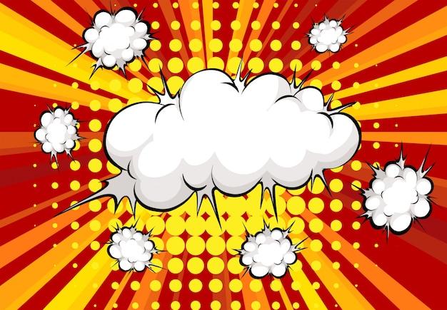 Explosión de nubes