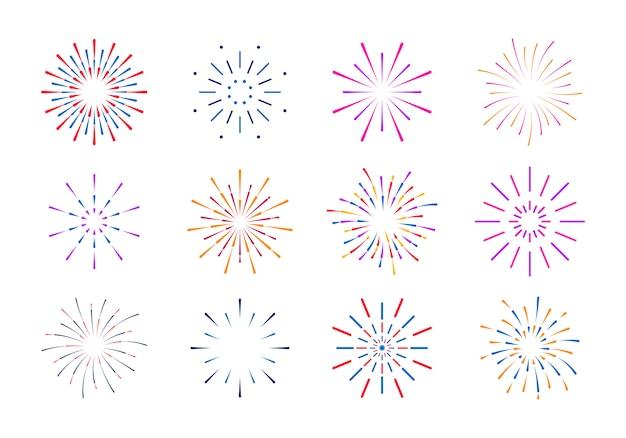 Explosión de rayos amanecer fuegos artificiales starburst