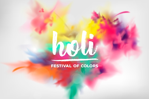 Explosión realista tradicional festival holi
