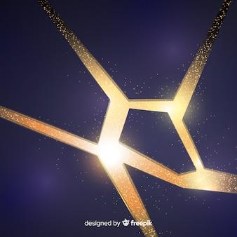 Explosión tridimensional con fondo luminoso