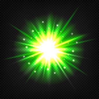 Explosión verde brillante