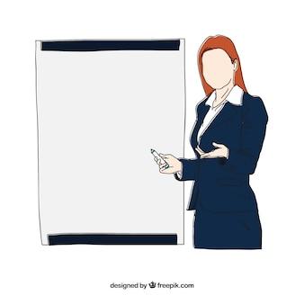 Exposición de mujer de negocios
