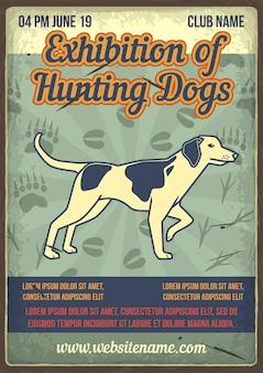 Exposición de perros de caza