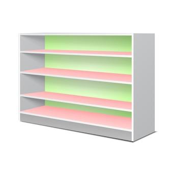 Expositor de estanterías y repisa para artículos.