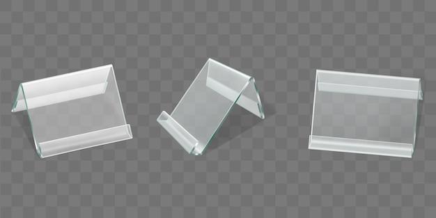 Expositores de carpa de mesa de acrílico, tarjeteros de plástico