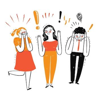 Expresión emocional de una amplia gama de personas, tanto mujeres como hombres.