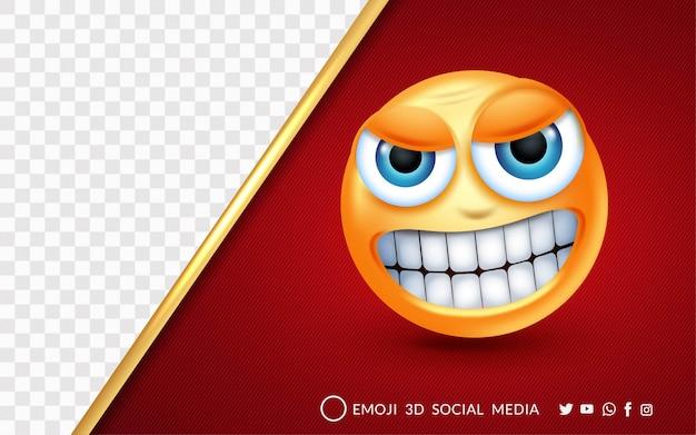 La expresión emoji está muy enojada.