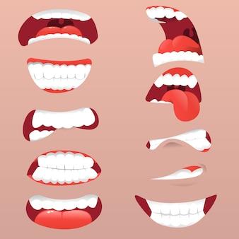 Expresión facial boca sorprendida