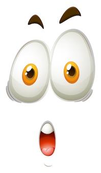 Expresión facial de cara impactante