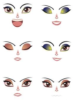 Expresión facial de la mujer
