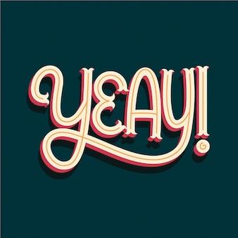 Expresión de yeay en letras de onomatopeyas