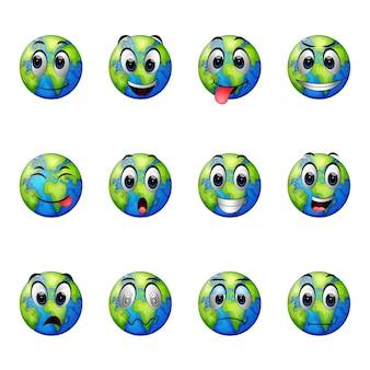 Expresiones faciales en la tierra