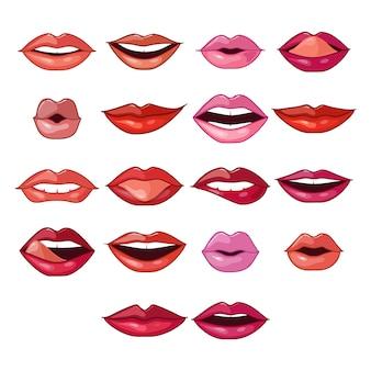 Expresiones y formas de labios