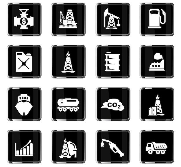 Extracción de iconos vectoriales de aceite para el diseño de la interfaz de usuario