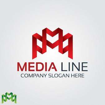 Extracto rojo del logotipo de la letra m