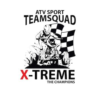 Extreme atv, un deporte de logo de ilustración