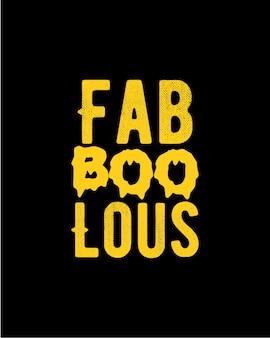 Fab boo lous. tipografía dibujada a mano