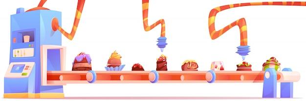 Fábrica de dulces, fabricación de producción de chocolate