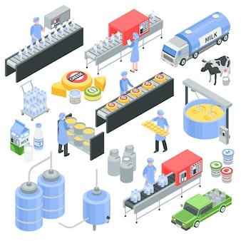Fábrica de lácteos isométrica