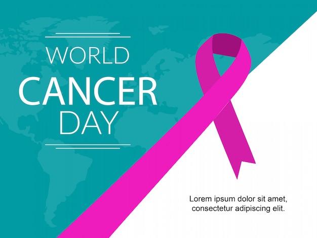 Fabricante de carteles del día mundial del cáncer